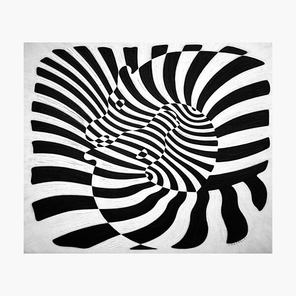 Zebras by Victor Vasarely Photographic Print