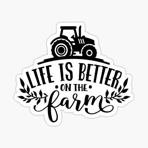 Funny Farmer Country Girl Farm Horses Tractor Chickens Cow  Sticker