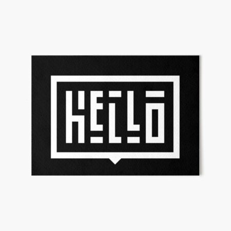 Hello WHT Art Board Print