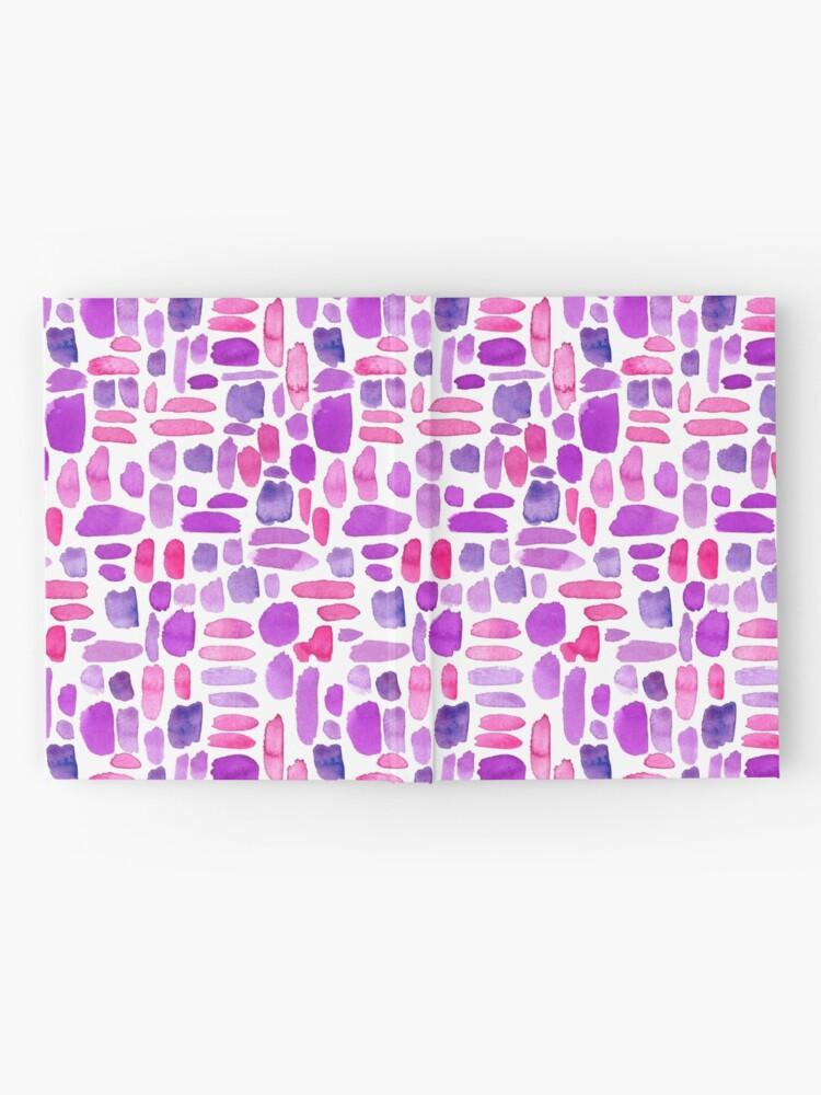 Alternate view of Watercolor Paint Brush Stroke Pattern - Magenta, Purple, Pink Hardcover Journal