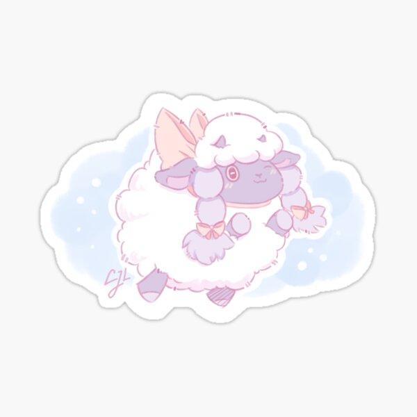 Cute Wooloo Pokemon Sheep Fanart Sticker