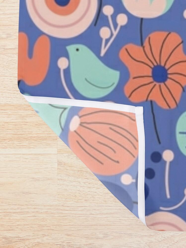 Alternate view of Blue Garden Shower Curtain