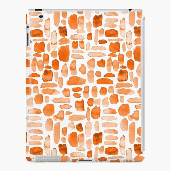 Watercolor Paint Brush Stroke Pattern - Orange iPad Snap Case