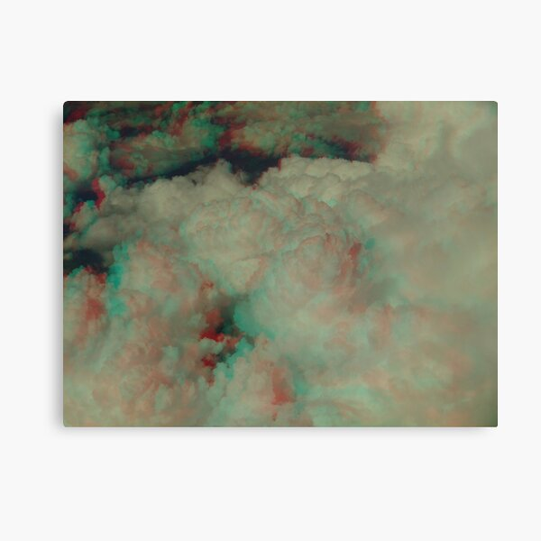 [3D] Cotton candy in the sky Canvas Print