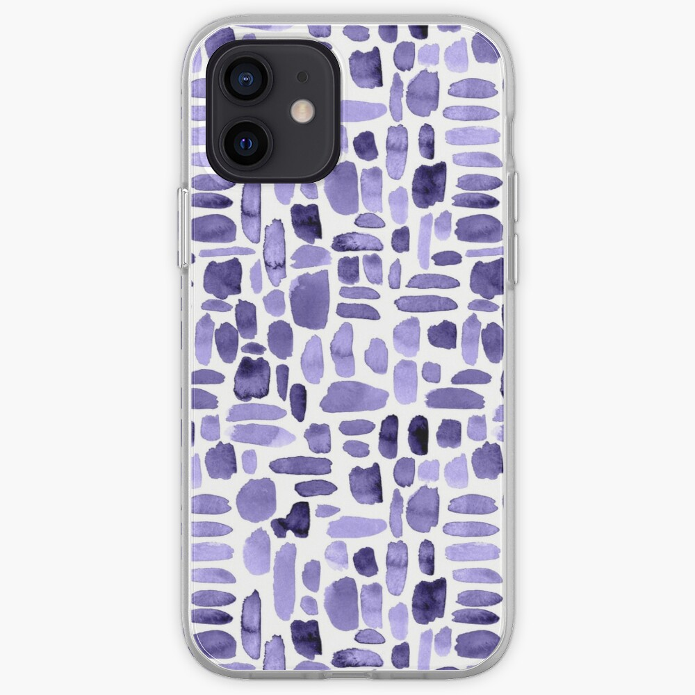 Watercolor Paint Brush Stroke Pattern - Purple iPhone Case & Cover