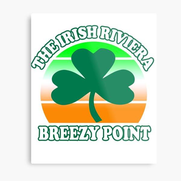 Breezy Point The Irish Riviera New York Beach  Funny Shamrock Retro Metal Print