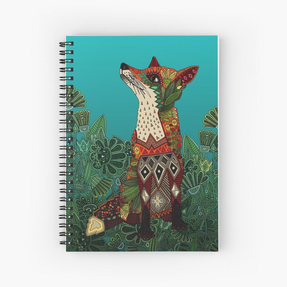 floral fox Spiral Notebook