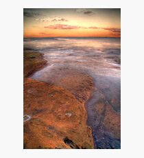 HDR  rocks at Coogee Photographic Print