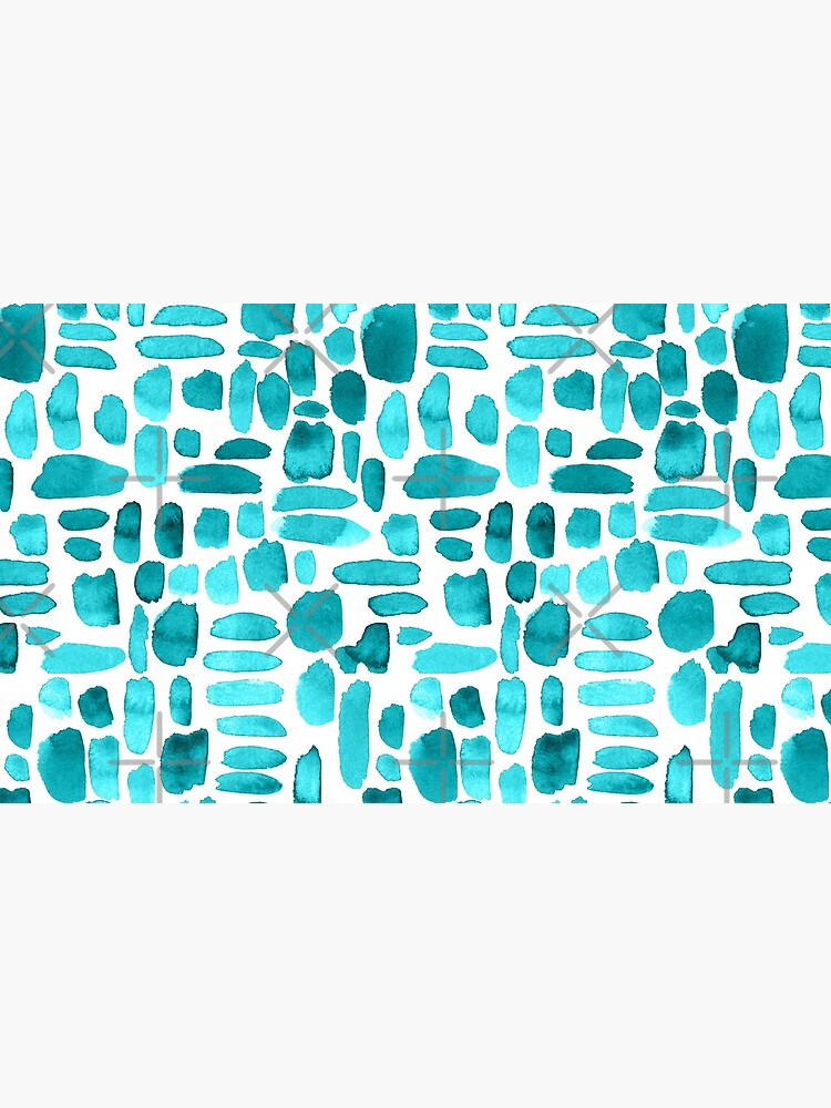 Watercolor Paint Brush Stroke Pattern - Teal by annieparsons