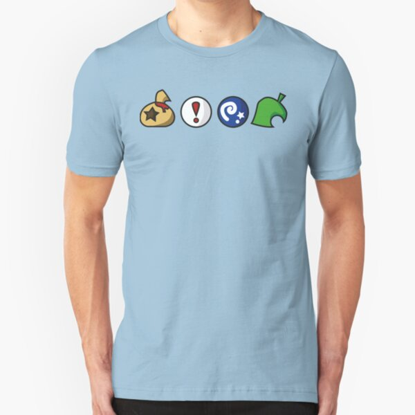 Animal Crossing Items (in many colours!) Slim Fit T-Shirt