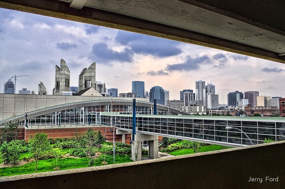 Parkade View of MacEwan by Myron Watamaniuk