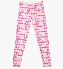 Yalla Habibi | Arabic Saying in fuchsia bright pink | Globetrotter Leggings