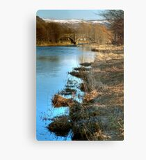 Cold Morning Beside the The River Tweed Metal Print
