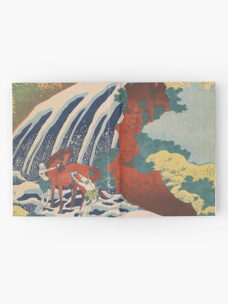 Alternate view of Yoshino Waterfalls Where Yoshitsune Washed his Horse by Katsushika Hokusai Hardcover Journal