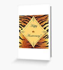 Tiger Anniversary Greeting Card