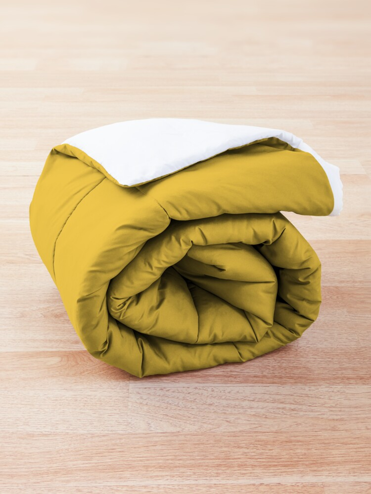 Alternate view of It's a Good Day to Be Happy in Yellow Comforter