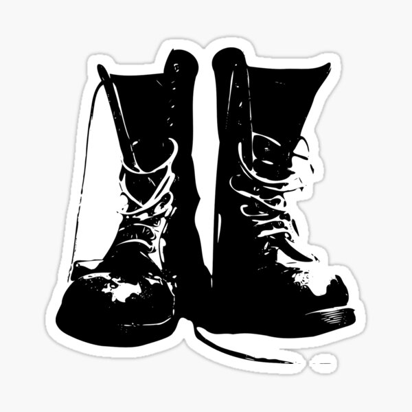 Skinhead DM Boots A WAY OF LIFE faded jeans ska music Vinyl Decal Sticker