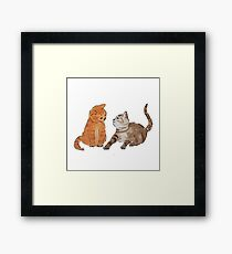 Watercolour Kittens Framed Print
