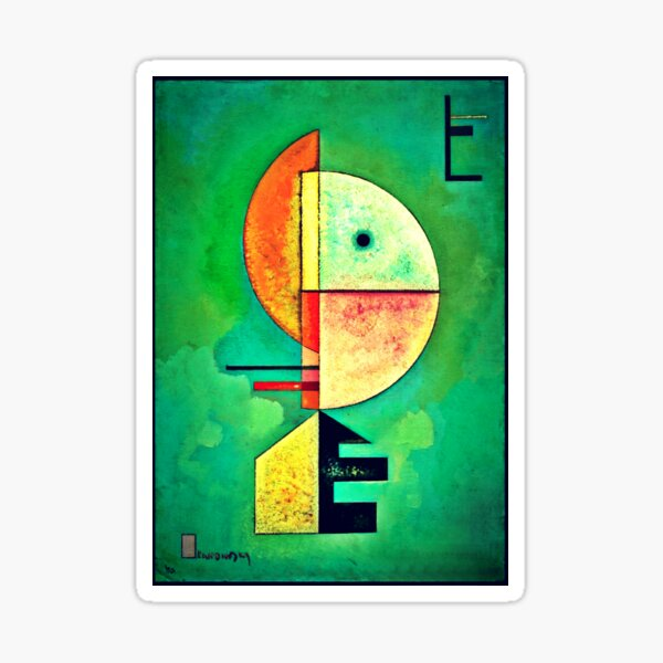 Upward by Vasily kandinsky | Kandinsky's Abstract Art Sticker