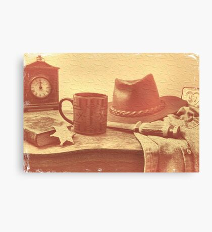 """""""'Bout Ready, Sheriff?""""... prints and products Canvas Print"""
