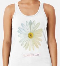Flower Art Design with Phrase Racerback Tank Top
