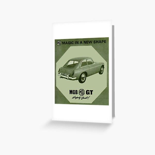 MGB GT Greeting Card