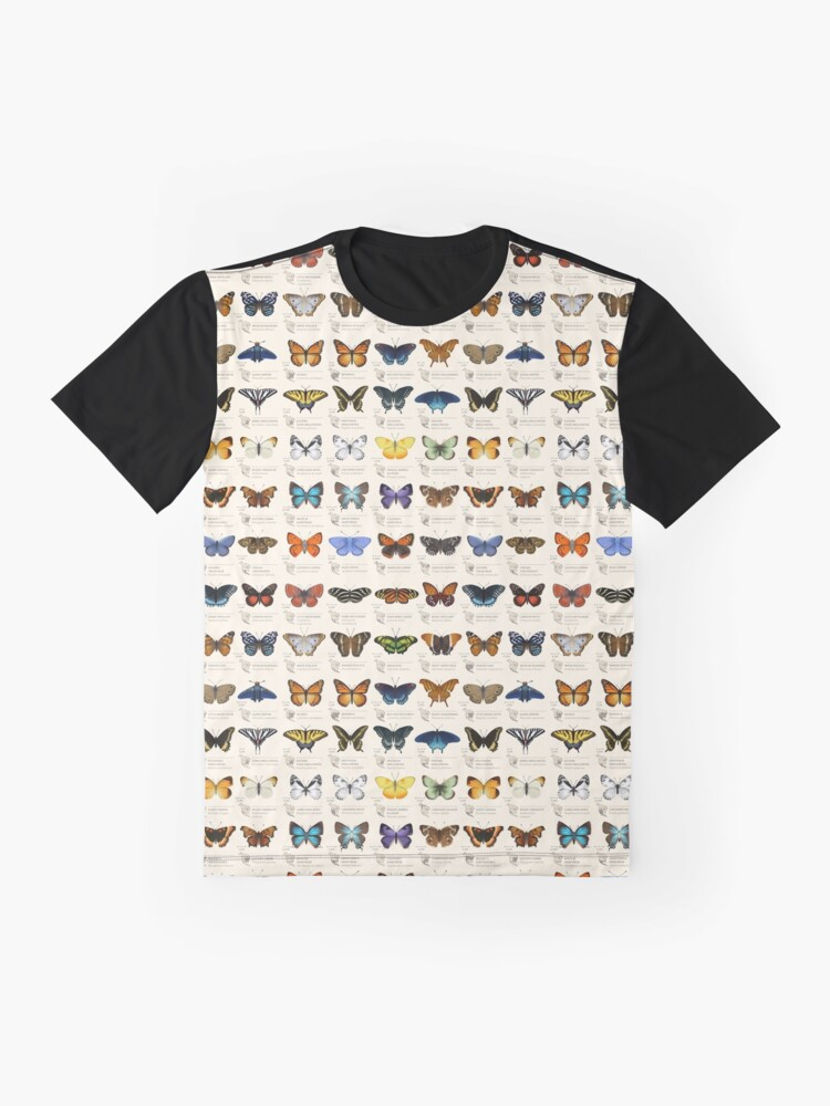 Alternate view of Butterflies of North America Graphic T-Shirt