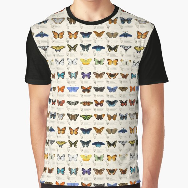 Butterflies of North America Graphic T-Shirt