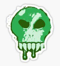 Skull - Green Sticker