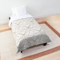 Gold Geometric Pattern  Comforter