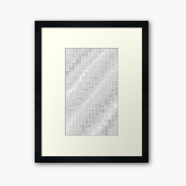 Gregorian chant in undulating waves from the Liber Usualis Framed Art Print
