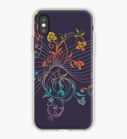 Blumenmusiknoten 3 iPhone-Hülle & Cover