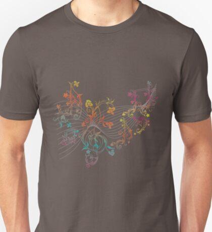 Blumenmusiknoten 3 T-Shirt