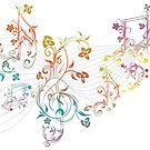 Blumenmusiknoten 3 von AnnArtshock