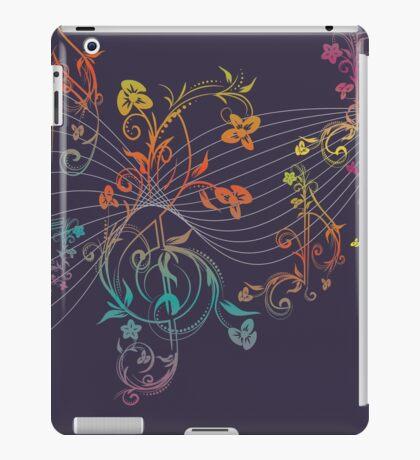 Blumenmusiknoten 3 iPad-Hülle & Klebefolie