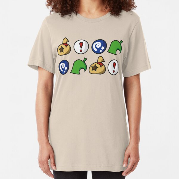 Animal Crossing Items 2 (in many colours!) Slim Fit T-Shirt