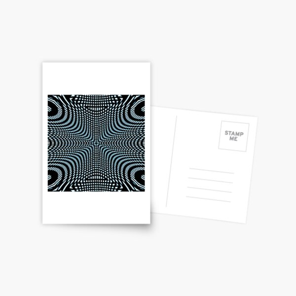 #Pattern, #illusion, #tile, #art, repetition, abstract, design, decoration, mosaic Postcard
