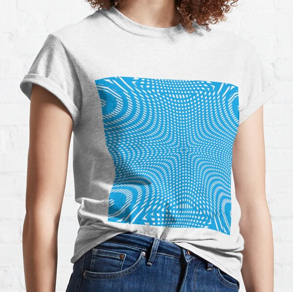 #Pattern, #illusion, #tile, #art, repetition, abstract, design, decoration, mosaic Classic T-Shirt