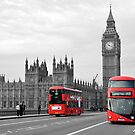 Buses on Westminster Bridge  by ANDREW BARKE