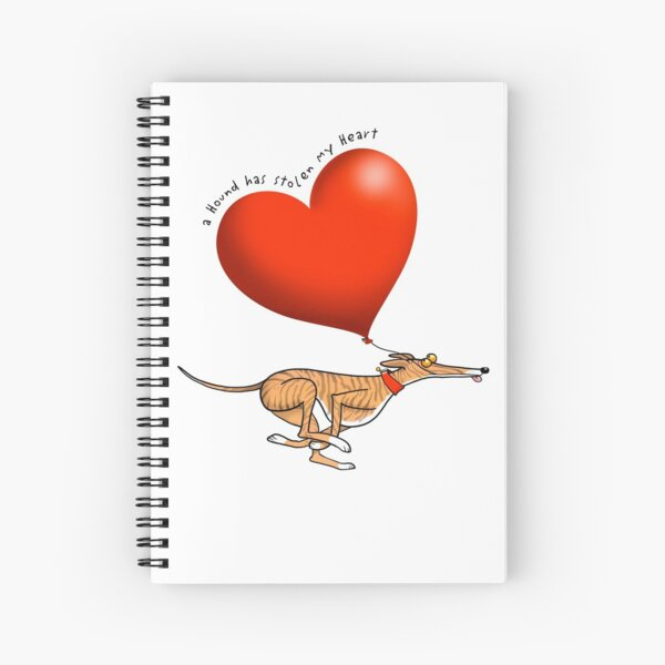Stolen Heart - brindle hound Spiral Notebook