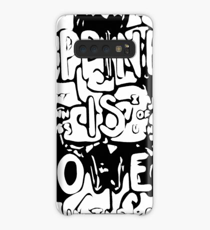 Happiness is Power v2 - Black and Transparent Case/Skin for Samsung Galaxy