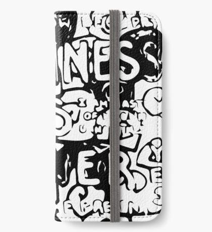 Happiness is Power v2 - Black and Transparent iPhone Wallet