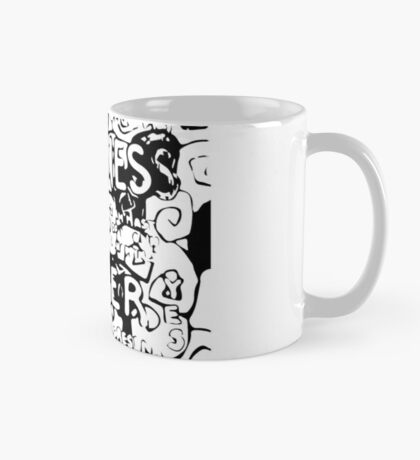Happiness is Power v2 - Black and Transparent Mug