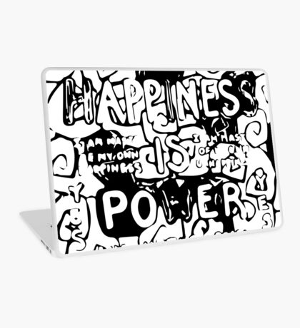 Happiness is Power v2 - Black and Transparent Laptop Skin
