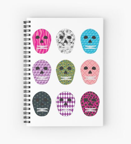 Sugar Pattern Skulls Spiral Notebook