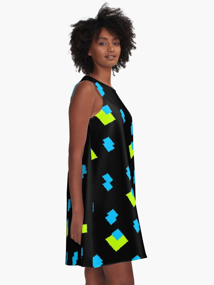 Alternate view of Liquid Crystals A-Line Dress