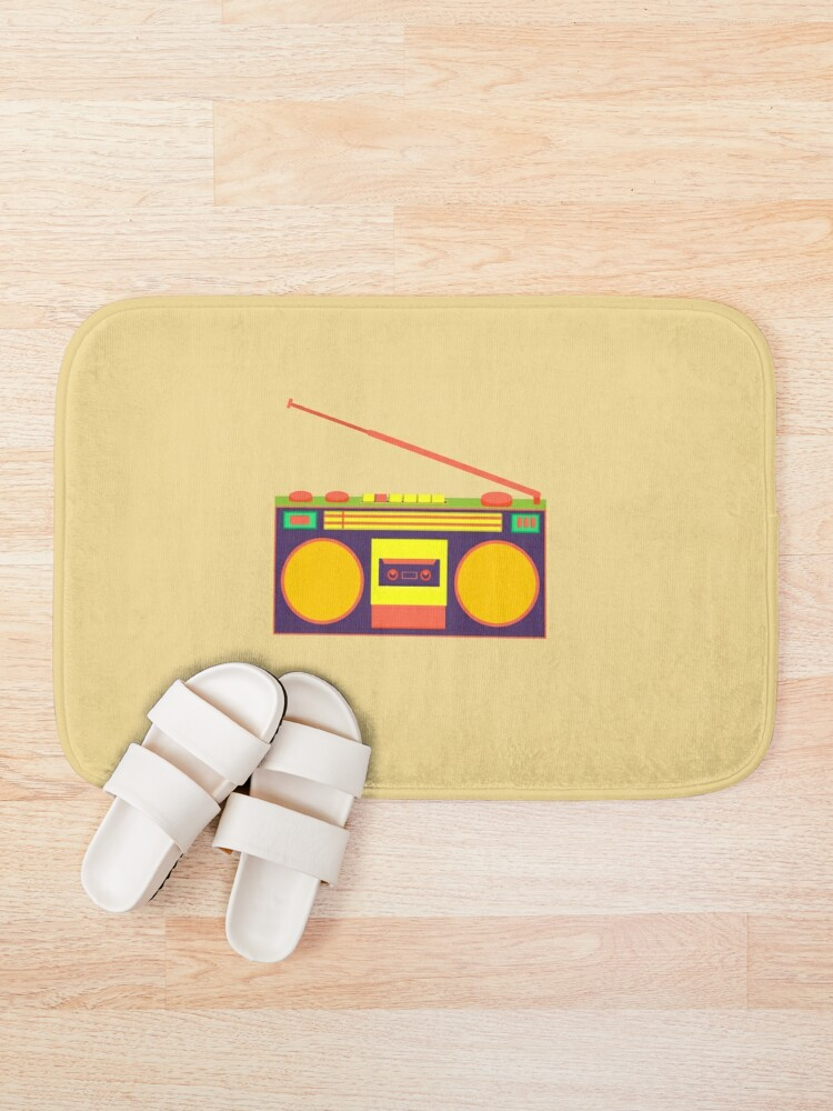 Alternate view of boombox - old cassette - Devices Bath Mat