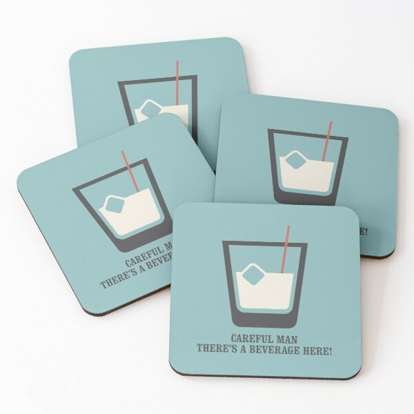 The Big Lebowski - White Russian - Careful Man, There's a Beverage Here! Coasters (Set of 4)