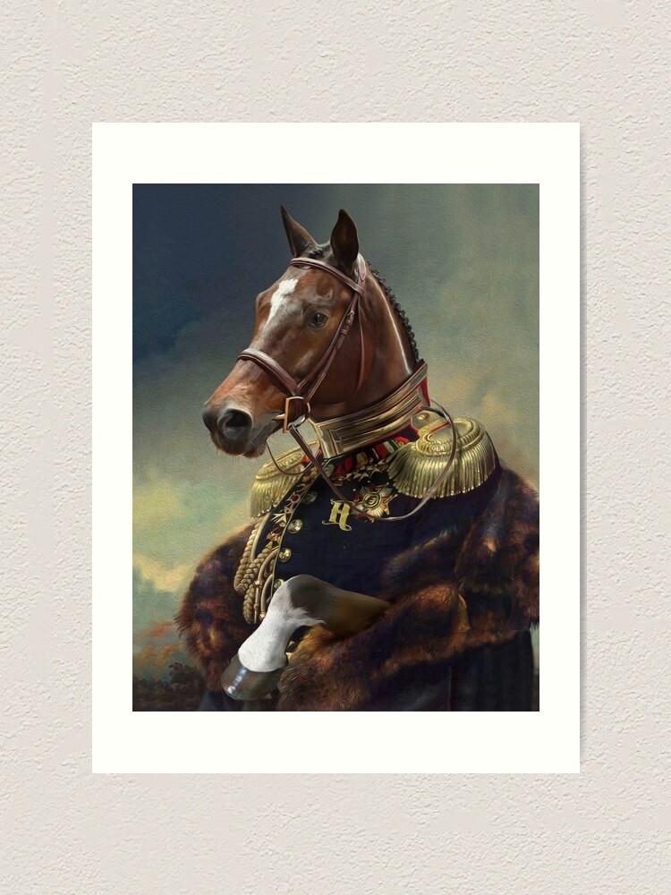 Alternate view of Horse Portrait Art Print