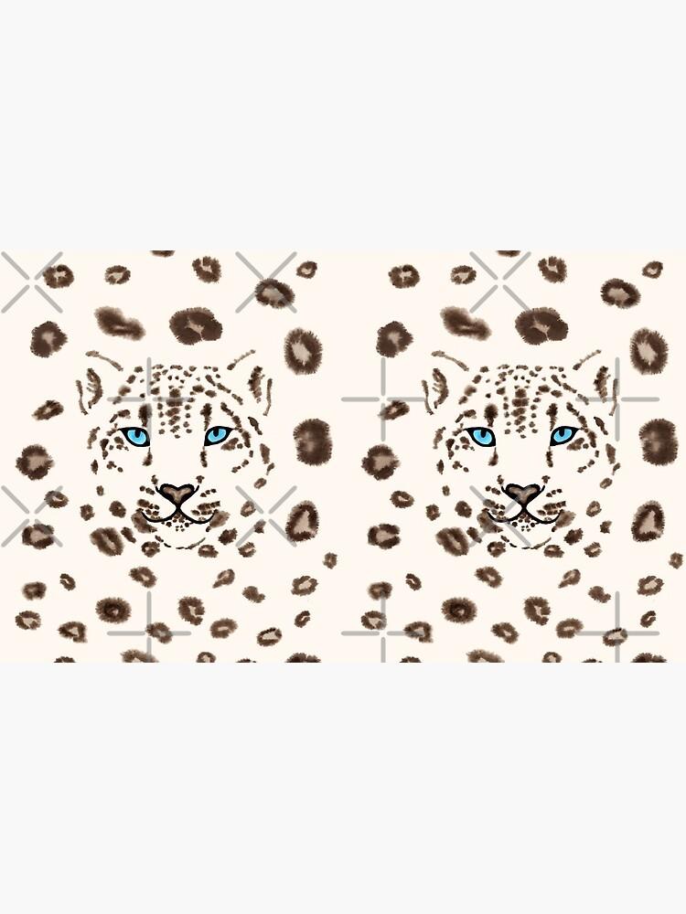 Watercolor Snow Leopard 2  by nadyanadya